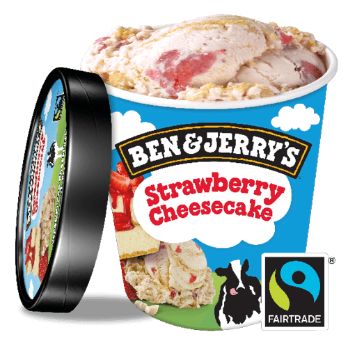 Foto Ben & Jerry's Strawberry Cheesecake 500 ml