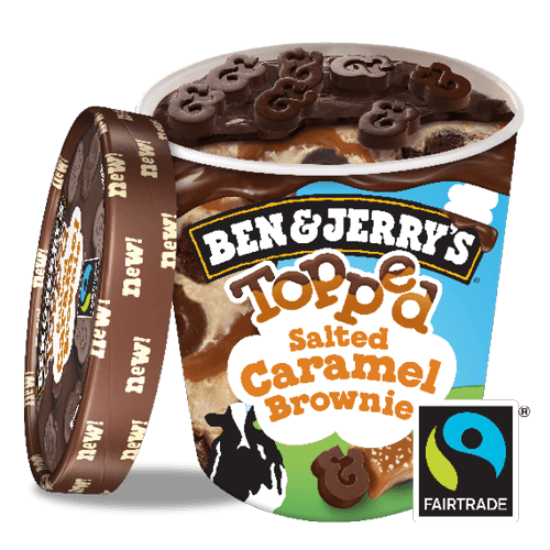 Foto Ben & Jerry's Topped Salted Caramel Brownie 500 ml